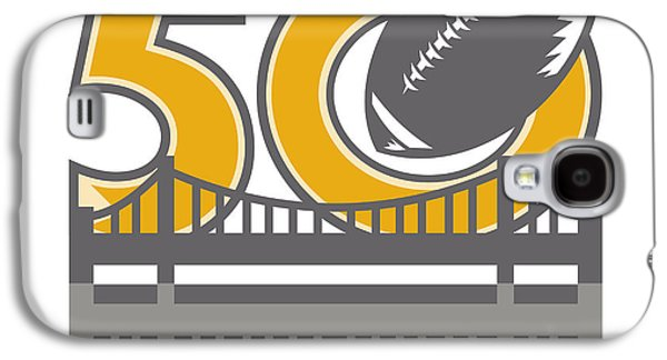 Pro Football Championship 50 Ball Bridge Galaxy S4 Case by Aloysius Patrimonio