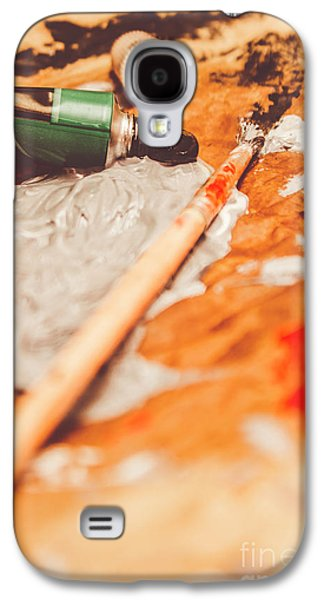 Progress Of Oil Painting Galaxy S4 Case by Jorgo Photography - Wall Art Gallery