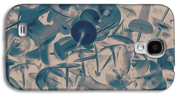 Projected Abstract Blue Thumbtacks Background Galaxy S4 Case