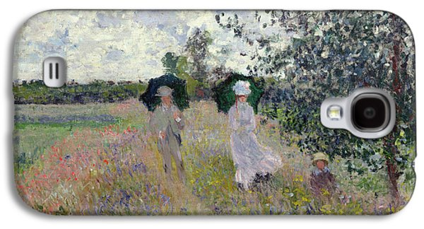 Promenade Near Argenteuil Galaxy S4 Case by Claude Monet
