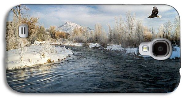 Provo River In Winter Galaxy S4 Case