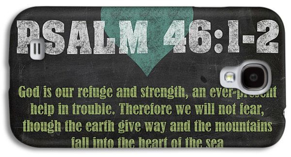 Psalm 46 12 Inspirational Quote Bible Verses On Chalkboard Art Galaxy S4 Case