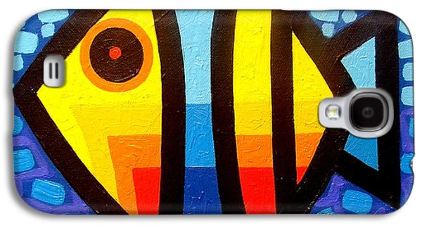 Psychedelic Fish Galaxy S4 Case