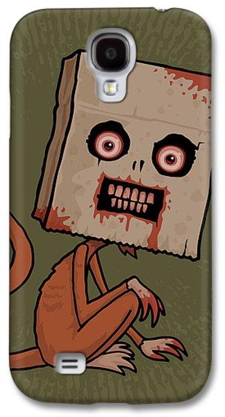 Monkey Galaxy S4 Case - Psycho Sack Monkey by John Schwegel