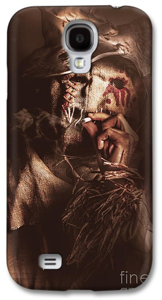 Puffing Billy The Smoking Scarecrow Galaxy S4 Case by Jorgo Photography - Wall Art Gallery