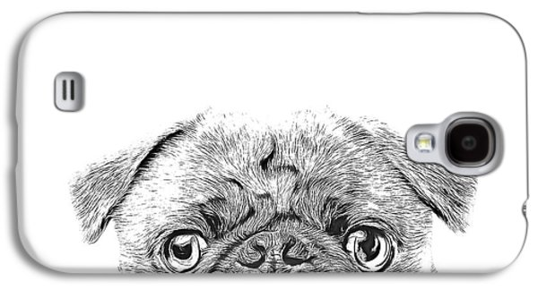 Pug Dog Sketch Galaxy S4 Case