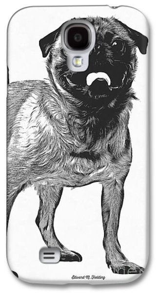 Pug Dog Standing Graphic Galaxy S4 Case