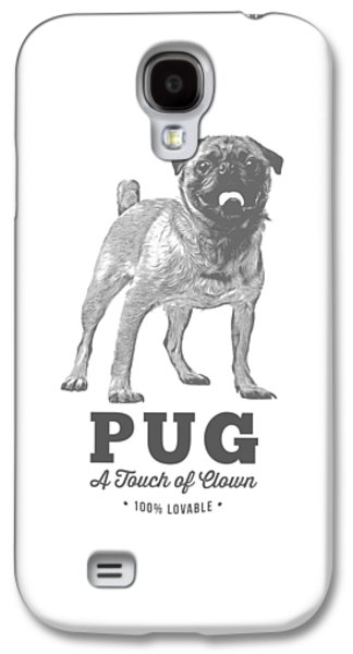 Pug Dog Touch Of Clown T-shirt Galaxy S4 Case by Edward Fielding