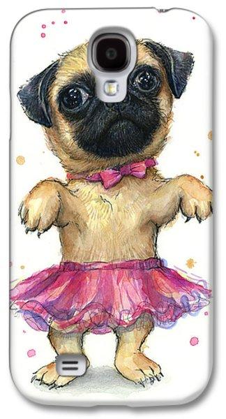 Pug In A Tutu Galaxy S4 Case by Olga Shvartsur