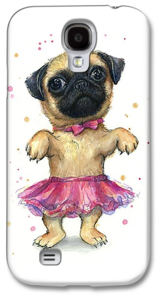 Pug In A Tutu Galaxy S4 Case by Olga Shvartsur