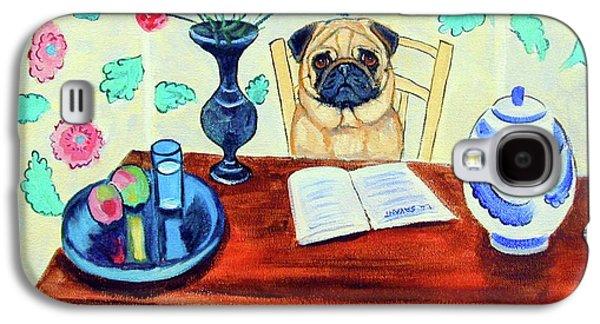 Pug Scholar Galaxy S4 Case by Lyn Cook