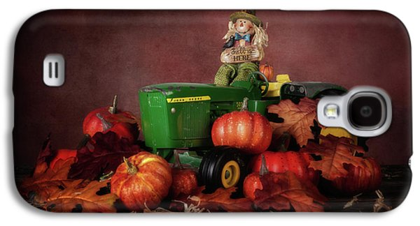 Tractors Galaxy S4 Case - Pumpkin Patch Whimsy by Tom Mc Nemar