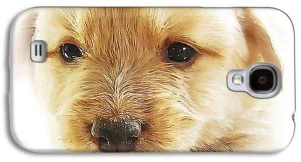 Pups Digital Art Galaxy S4 Cases - Puppy Art Galaxy S4 Case by Svetlana Sewell