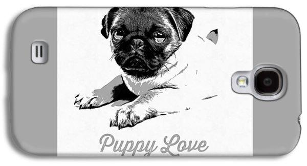Puppy Love Galaxy S4 Case by Edward Fielding
