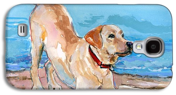 Puppy Pose Galaxy S4 Case by Molly Poole