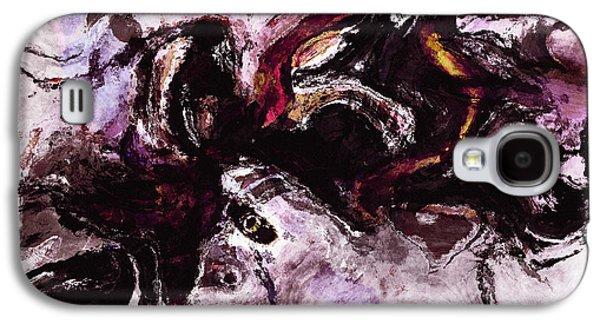 Purple Abstract Painting / Surrealist Art Galaxy S4 Case by Ayse Deniz