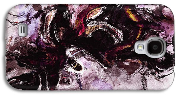 Purple Abstract Painting / Surrealist Art Galaxy S4 Case
