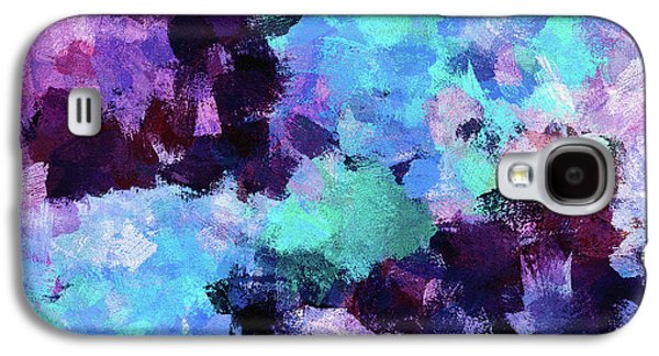 Purple And Blue Abstract Art Galaxy S4 Case by Ayse Deniz