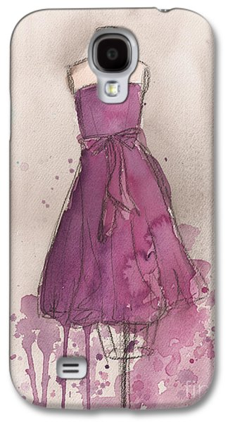 Purple Bow Dress Galaxy S4 Case by Lauren Maurer