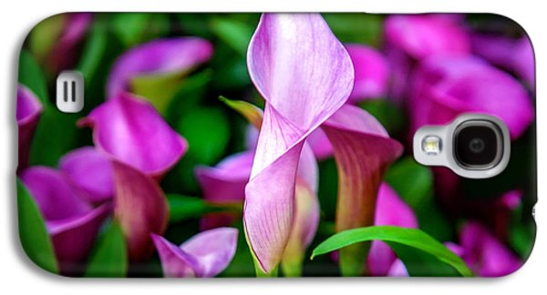 Purple Calla Lilies Galaxy S4 Case by Az Jackson