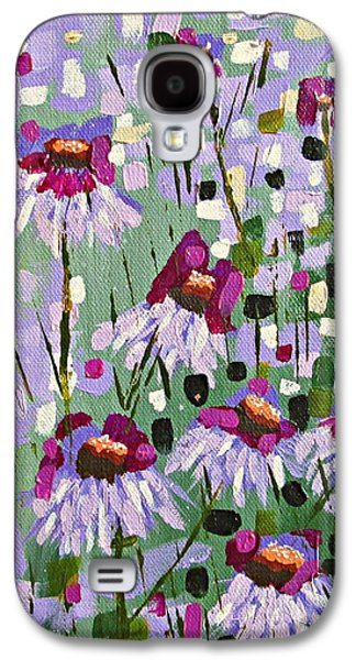 Purple Coneflowers Galaxy S4 Case by Mary Mirabal