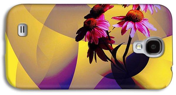 Purple Coneflowers Galaxy S4 Case by Patricia Motley