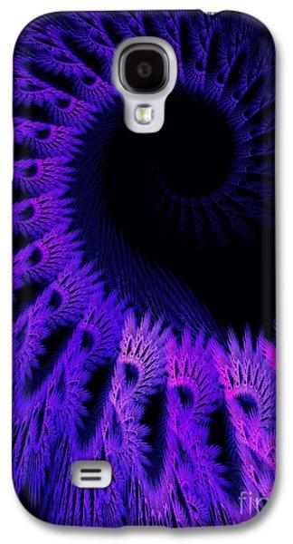 Purple Crochet Galaxy S4 Case by Elizabeth McTaggart
