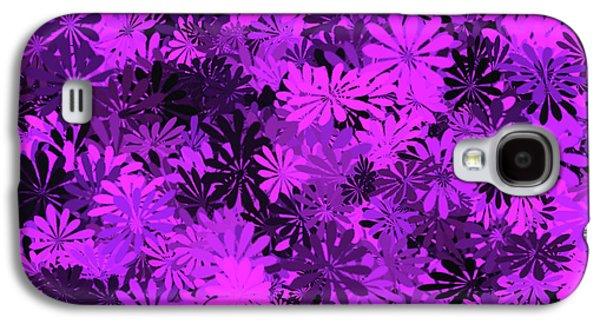 Purple Floral Pattern Galaxy S4 Case