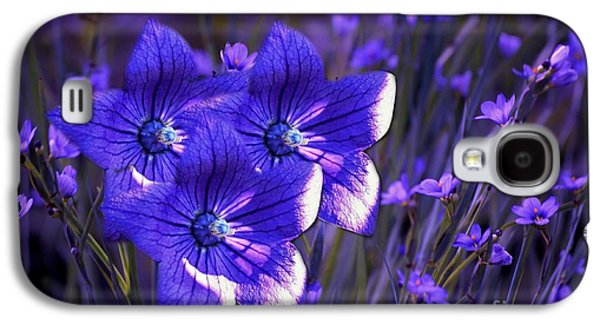 Purple Florwer Abstract Galaxy S4 Case by Marjorie Imbeau
