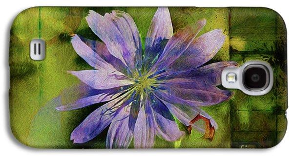 Purple Flower Abstract Galaxy S4 Case by Deborah Benoit
