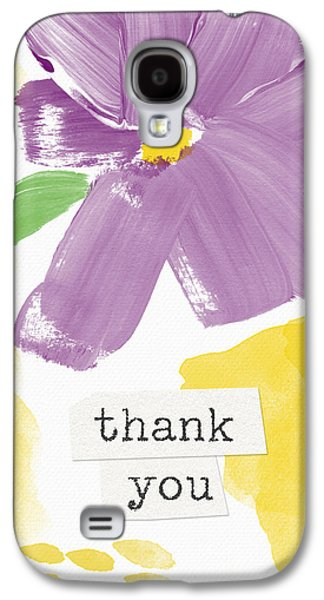 Purple Flower Thank You Card- Art By Linda Woods Galaxy S4 Case