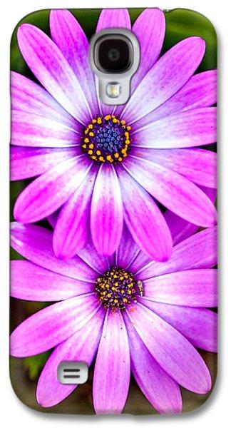 Purple Flowers Galaxy S4 Case by Az Jackson