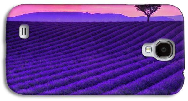 Purple Heart Galaxy S4 Case by Midori Chan