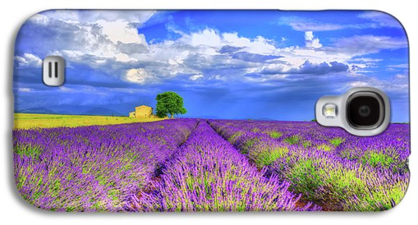Purple Galaxy S4 Case by Midori Chan