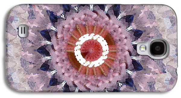 Purple Mosaic Mandala - Abstract Art By Linda Woods Galaxy S4 Case by Linda Woods