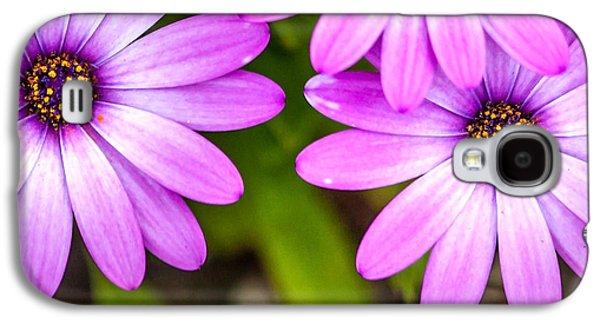 Purple Petals Galaxy S4 Case by Az Jackson