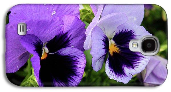 Purple Pansies Galaxy S4 Case