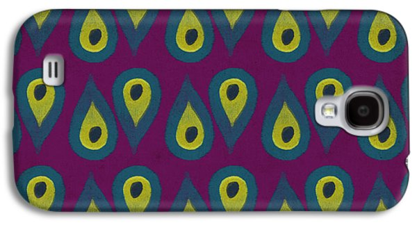 Patterned Galaxy S4 Cases - Purple Peackock Print  Galaxy S4 Case by Linda Woods