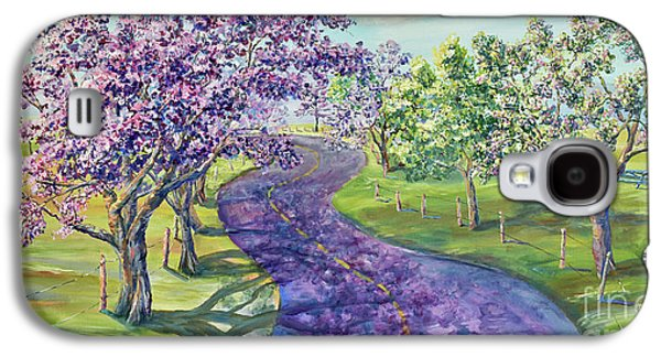 Purple Road - Springtime Galaxy S4 Case by Malanda Warner