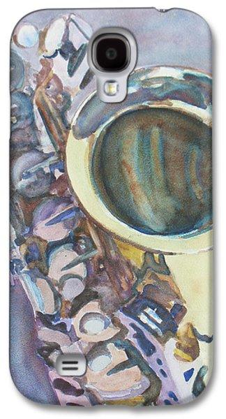 Watercolour Art Galaxy S4 Cases - Purple Sax Galaxy S4 Case by Jenny Armitage
