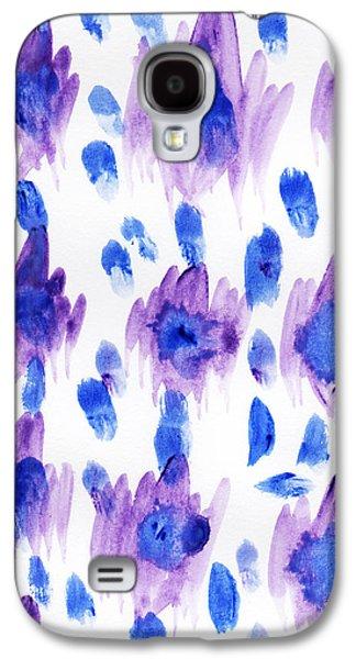 Purple Watercolor Ikat Galaxy S4 Case by Allyson Johnson