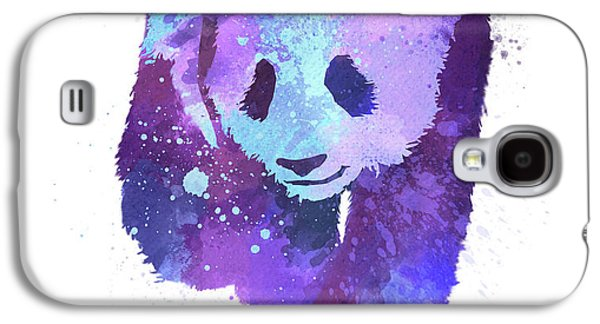Purple Watercolor Panda Galaxy S4 Case by Thubakabra