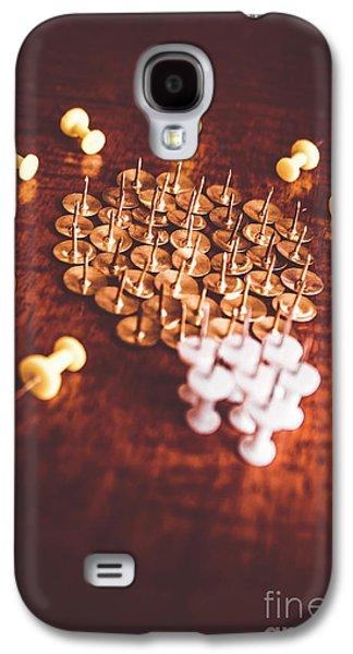 Pushpins And Thumbtacks Arranged As Light Bulb Galaxy S4 Case by Jorgo Photography - Wall Art Gallery