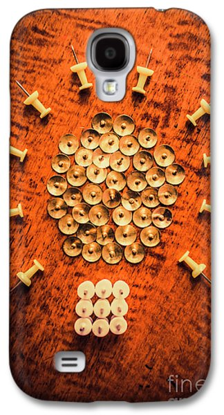 Pushpins Arranged In Light Bulb Icon Galaxy S4 Case by Jorgo Photography - Wall Art Gallery