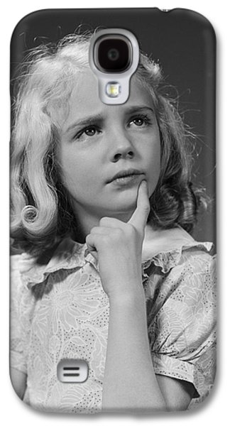 Puzzled Girl, C.1940s Galaxy S4 Case