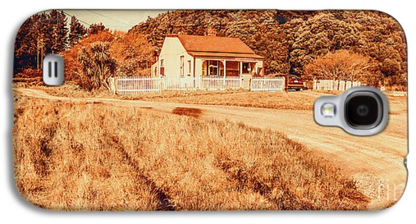 Quaint Country Cottage Galaxy S4 Case by Jorgo Photography - Wall Art Gallery