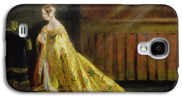Queen Victoria In Her Coronation Robe Galaxy S4 Case by Charles Robert Leslie