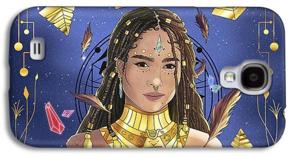 Queen Zoe Kravitz Illustration Galaxy S4 Case