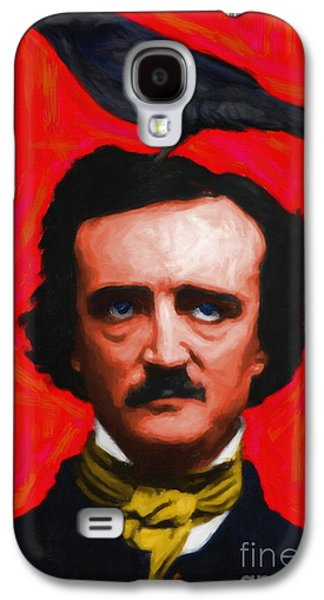 Quoth The Raven Nevermore - Edgar Allan Poe - Painterly - Red -  Galaxy S4 Case