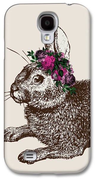 Rabbit And Roses Galaxy S4 Case